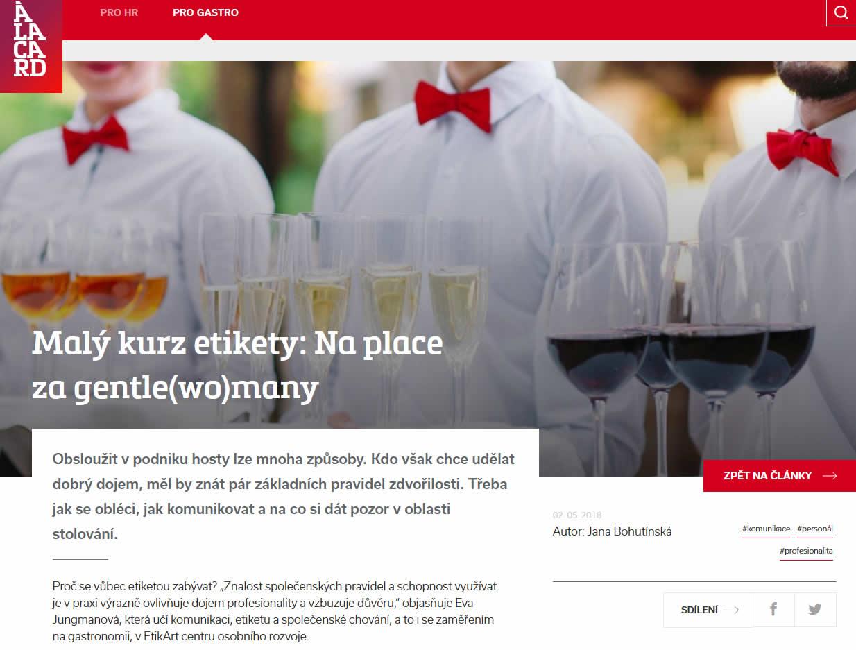 www.alacard.cz - Malý kurz etikety: Na place za gentle(wo)many